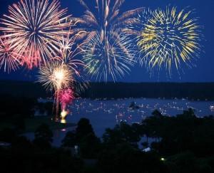 Luminary Lake Fireworks