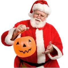 Santa Celebrates Halloween