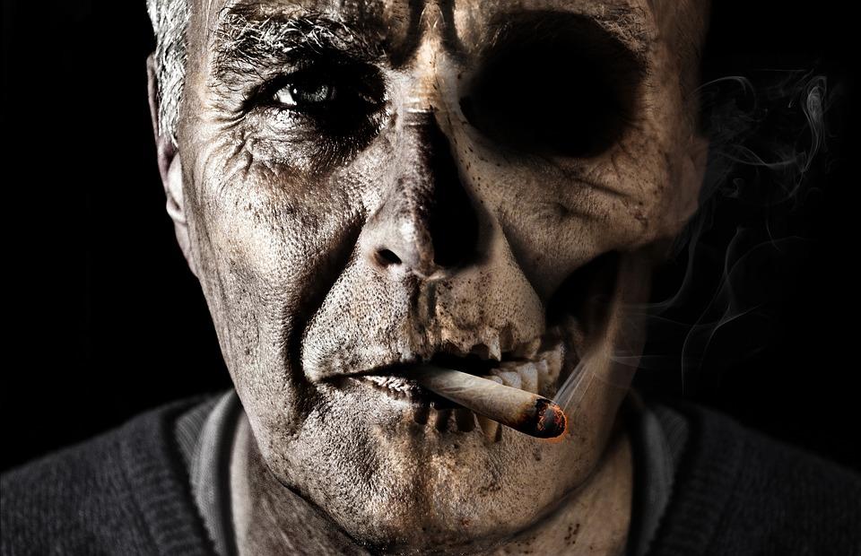 the sickening smoker zombie