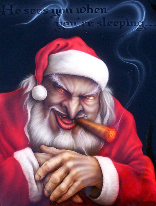 Evil Anti-Santa disguised as the Good Claus.