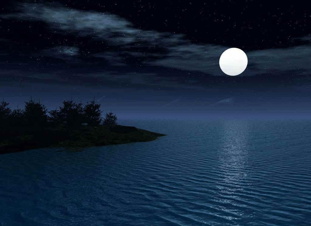Woodland Springs Lake, aka Luminary Lake, On The Night Of A Full Moon
