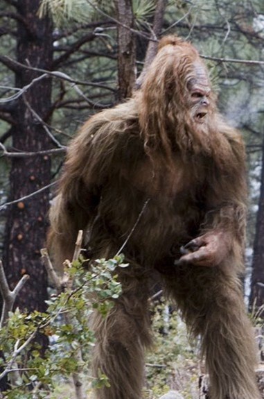 Sasquatch spots a magically induced diurnal Werewolf fast approaching and prepares for battle.