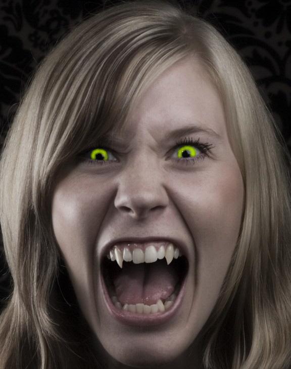 Angry Female Vampire