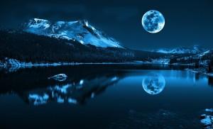 Luminary Lake True Blue Moon Woodland Springs, Colorado
