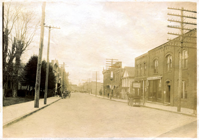 Main Street where the epic supernatural battle of Waynesville took place in 1907.