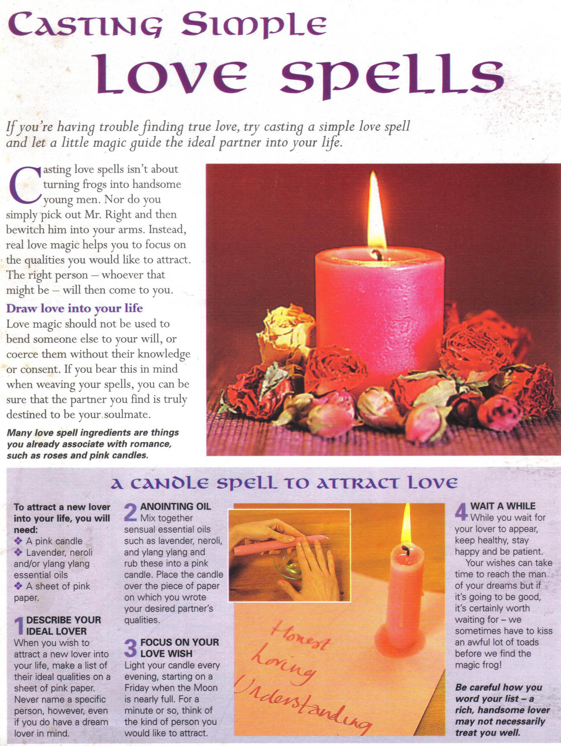 Casting Simple Love Spells