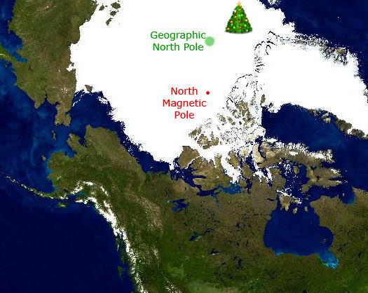 Santa Claus Location North
