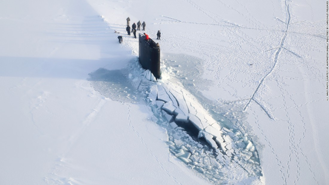 That Time A Russian Submarine Shot Up Into North Pole City
