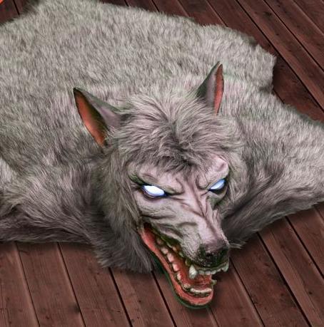 Haunted Werewolf Rug