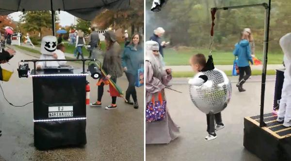 DJ Marshmello And The Disco Kid Costume