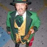 Leprechaun With Sacred Shillelagh In Hand