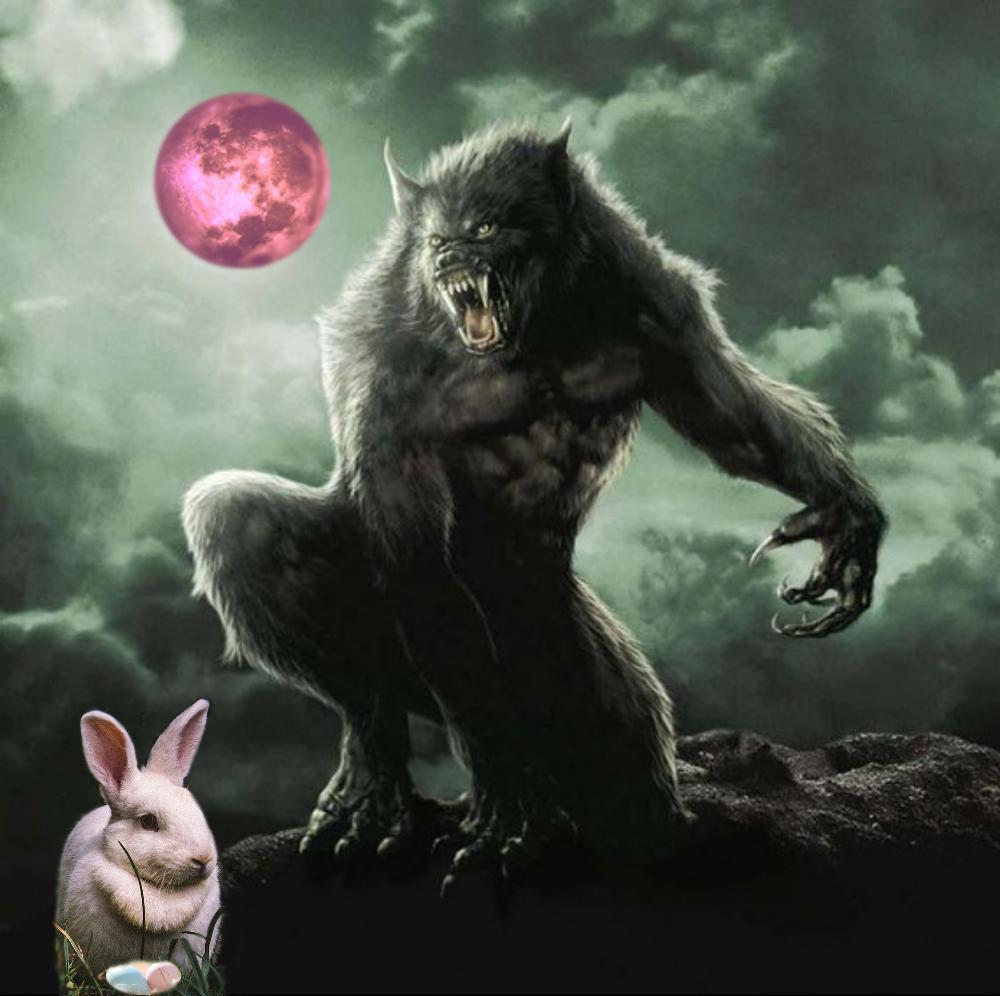 Enchanted Easter Egg Supermoon Werewolf Warning