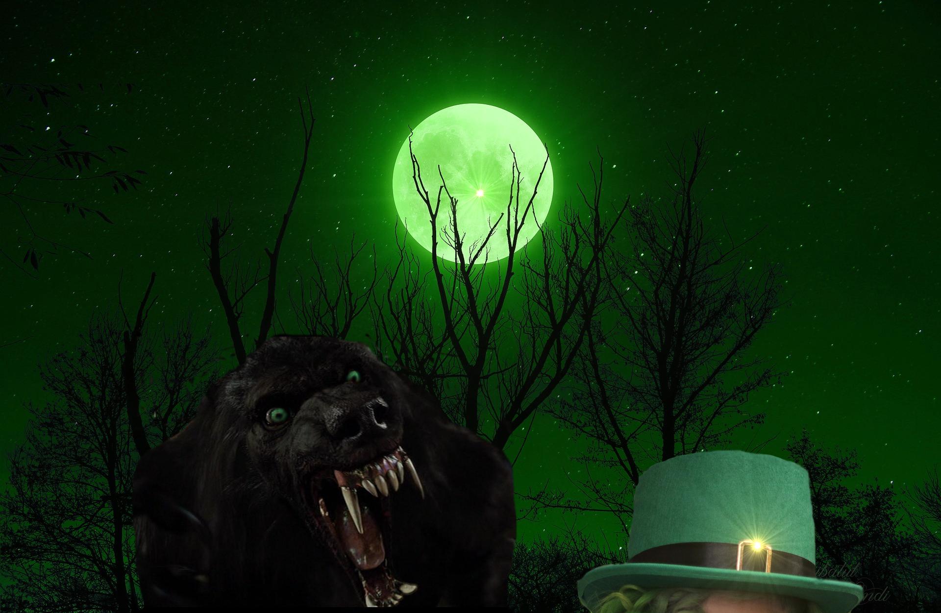 Lucky Storm Moon Werewolf Warning