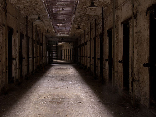 The sinister unholy halls of the Mystical State Prison.